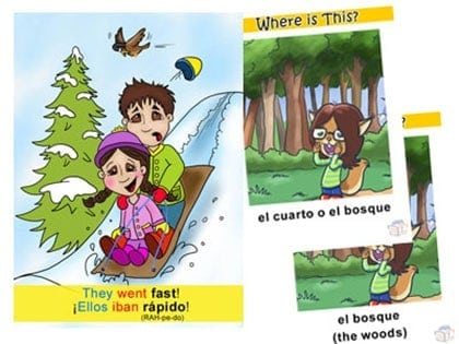 BookLingual Spanish for children dual-language storybooks sample pages.