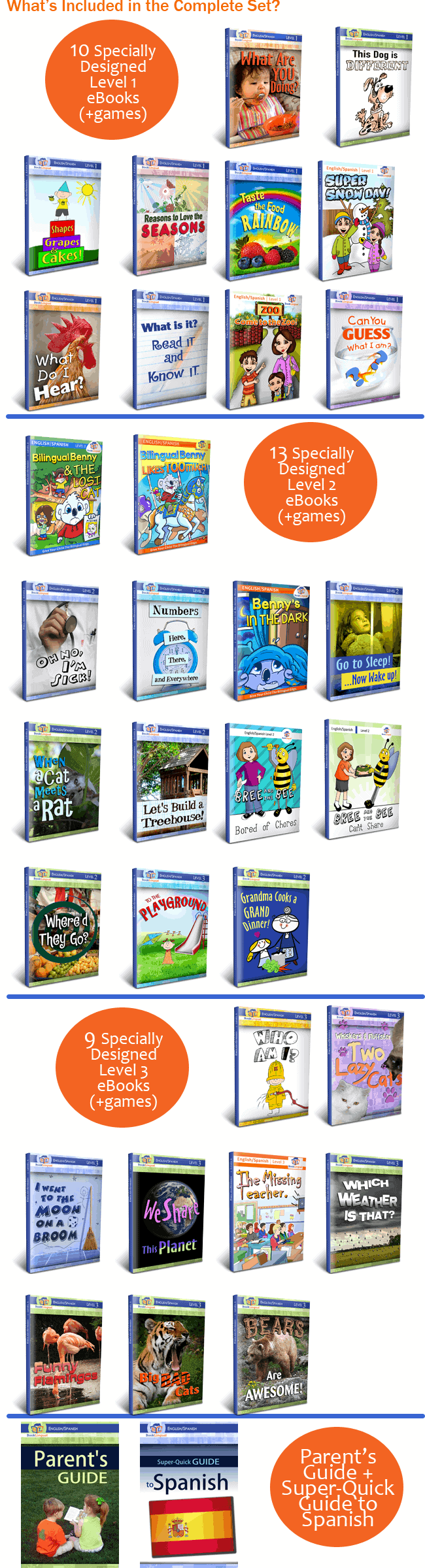 BookLingual Spanish Complete Set