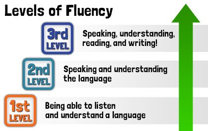 BookLingual: 3 Levels of Spanish Fluency.