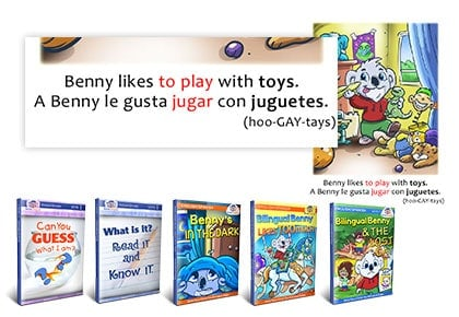 BookLingual: Our color-coded, leveled books allow for simple reading ease and rapid learning.