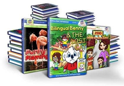 BookLingual: Complete Spanish for Kids features 32 eBooks for rapid learning.